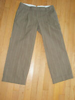 NWT* WOMEN'S SZ 4 TOMMY HILFIGER CROPPED PANTS * BROWN W/ STRIPES * 31X25