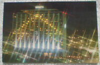 Buenos Aires Sheraton Hotel Towers Argentina @ Night 1960's Era Color Postcard