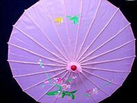 JAPANESE PINK FLORAL UMBRELLA PARASOL CHINESE DANCE BIRTHDAY WEDDING PARTY