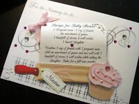 Personalised Handmade 'Baby Shower Recipe' Card