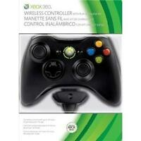 Official Xbox 360 Wireless Controller with Play and Charge Kit - Black (Xbox 360