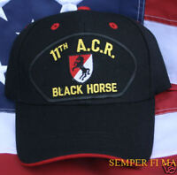 11th Armored Cavalry Regiment CAV Black Horse HAT ARMY WOWAH PIN UP FORT IRWIN