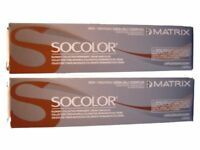 Matrix Socolor Color 6M Light  Brown Mocha 2 tubes Permanent Hair color  2 oz