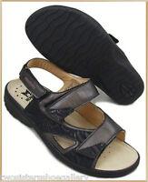 M5247W Mephisto Womens Ladies Back Strap Sandal Black Leather Size 6