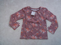 NEXT Gorgeous Mink & Floral Long Sleeved  Top 4-5 BNWT