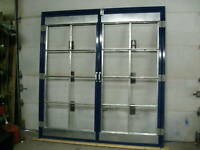 9' WIDE x 8' TALL SPRAY BOOTH DOORS WITH FILTERS