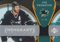 2007-08 TRILOGY - JOE THORNTON HONORARY SWATCHES #HS-JT