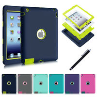 KID Heavy Duty Hard Case Shockproof Stand Cover for Apple iPad 4 3 2/mini/Air 2