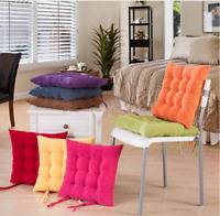 Colorful Dining Garden Chair Seat Pads Ties Cushion Soft Office Home Bedroom New