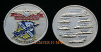 BLUE ANGELS 2012 US NAVY MARINES AVIATION 100th CHALLENGE COIN USS F-18 HORNET