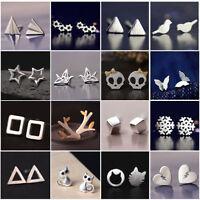 Fashion Womens Girl 925 Sterling Silver Earrings Ear stud Cute Jewelry Gift New