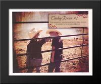 Cowboy Reason 1 20x16 Black Wood Framed Art Print by Shawnda Eva