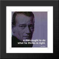 John Wayne: iPhilosophy 20x20 Black Wood Framed Art Print