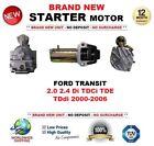 PARA FORD TRANSIT 2.0 2.4 Di TDCi TDE TDdi 00-06 MOTOR DE ARRANQUE 2.1 kW