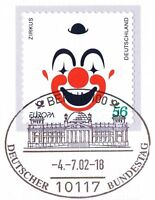 BRD 2002: Zirkus! Selbstklebende Nr 2272 mit Berliner Bundestag-Stempel! 1A 1709