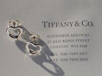 Tiffany & Co Elsa Peretti Open Heart Sterling Silver Earrings