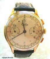Hau Luxusuhr Breitling Uhr Uhren 18Kt 750 Gold Chronograph Handaufzug 50er Jahre