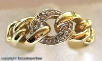 Zirkoniaring Goldring Ring mit Zirkonia Gliederring Finger Damen Ringe Gold 333