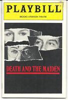 """DEATH AND THE MAIDEN"" PLAYBILL AND STUB. STARS GLENN CLOSE, HACKMAN, & DREYFUSS"