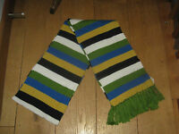 LANDS END LARGE FRINGED WOOL MIX LONG SOFT STRIPED SCARF VARIOUS COLOURS BNWT