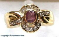Rubinring Goldring Ring mit Rubin Rubine in aus  585 Gold Fingerring Damen Gr.60