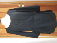 MARKS & SPENCERS BLACK CIRCLE DETAIL TUNIC KAFTAN TOP 8 NEW BELTED