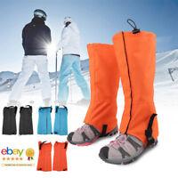 Pair Waterproof Warm Snow Leg Legging Boot Gaiters Trouser Cover Climbing Hiking