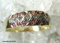 Rubinring Ring mit Rubin Rubine Diamond in aus 585 Gold Ginger Damen Ringe Gr.60