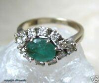 Smaragdring Brillantring Ring mit Smaragd in aus 585 Gold Brillanten Gold Gr. 54