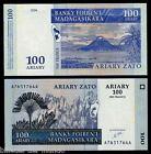 B-D-M Madagascar 100 Ariary / 500 Francs 2004 Pick 86 SC UNC.