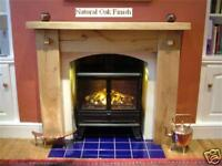 Fire Surround, Rustic  Solid oak, Hand built!