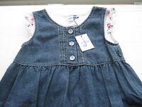 RRP€40 Girls Denim Dress & white T shirt age 8 Jasper J Junior Debenhams NEW