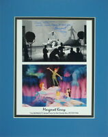 Disney Autographed Peter Pan & Mermaids Matted Photo Signed By Margaret Kerry