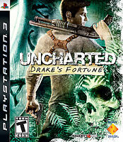 Uncharted: Drake's Fortune (Sony PlayStation 3, 2007) DISC IS MINT