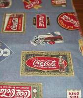 COCA COLA FABRIC---12YDS BY 16 INS WIDE