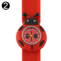 Cartoon Gel Quartz Rubber Kids Strap Wrist Watch Cute Unique Pattern Gift