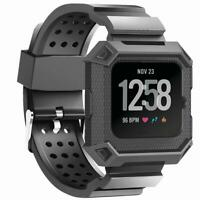 Rugged Band Wristband Strap For Fitbit Versa Smart Watch Accessories