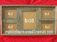 rustic barnwood barn wood multi picture frame assorted