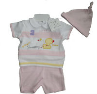 BABY GIRLS OUTFIT/2 PIECE SET 3-6 6-12 & 12-18 MONTHS