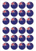 New Zealand - World Cup Flags Fairy Cake Toppers x 24 *