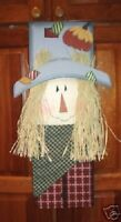 Scarecrow Autumn Door Wall Art Decor Sign Country NEW
