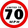 120mm LIMITED TO 70MPH STICKER VAN BUS CAR COACH BUSINESS