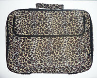 """14"""" 15"""" 16"""" 17"""" Leopard Lady's Laptop Notebook Bag Carrying briefcase Accessory"""