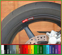 8 x APRILIA RACING Wheel Rim Decals Stickers  rsv mille tuono r rs shiver 125 50