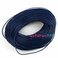 FREE SHIP 50M  2mm Real Leather Cord - Round Thong C228