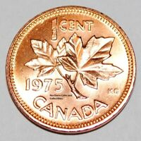 1975 1 Cent Canada Copper Nice Uncirculated Canadian Penny