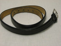 Black L Large Genuine Bonded Leather Lined Belt Size 36 40 About 41.5 Inches