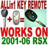 NEW 01~06 ACURA RSX ALLin1 TRANSPONDER CHIP KEY KEYLESS ENTRY TRANSMITTER REMOTE