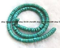 natural color 4x6mm green Turquoise roundel Beads 15'' high quality gemstone