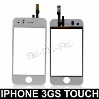 REPLACEMENT WHITE LCD SCREEN TOUCH DIGITIZER FRONT GLASS FOR IPHONE 3GS